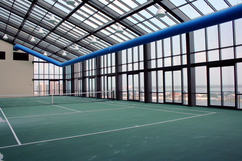 Ph. IX indoor tennis court